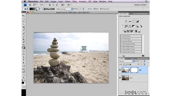 Combining bracketed exposures: Photoshop CS4: Layer Masks in Depth