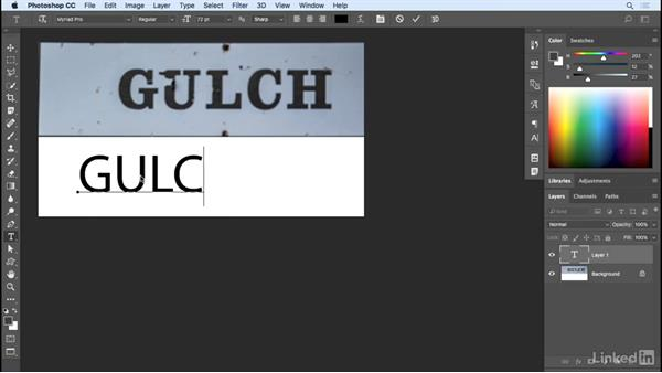 Font match (Latin fonts only): Photoshop CC 2017 Essential Training: Design