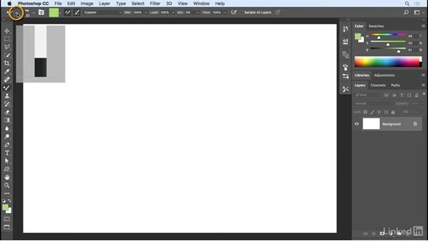 Save tool and brush presets: Photoshop CC 2017 Essential Training: Design