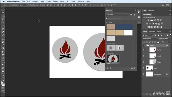 Working with Linked Smart Objects in CC LIbraries: Photoshop CC 2017 Essential Training: Design