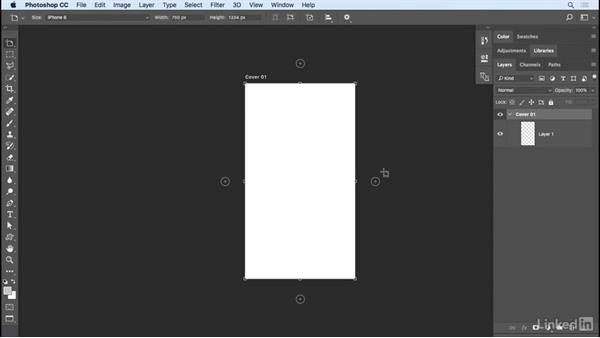 Creating artboards: Photoshop CC 2017 Essential Training: Design