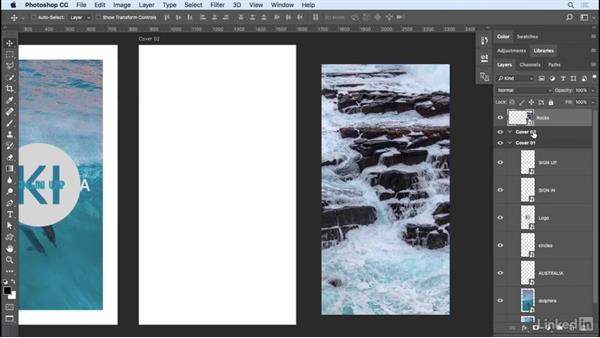 Adding content to artboards: Photoshop CC 2017 Essential Training: Design