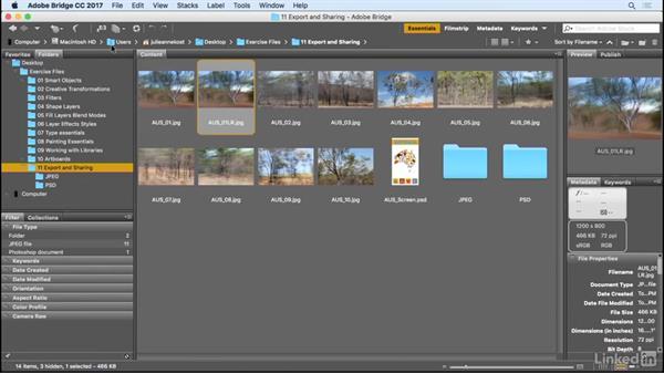 Quickly exporting images: Photoshop CC 2017 Essential Training: Design