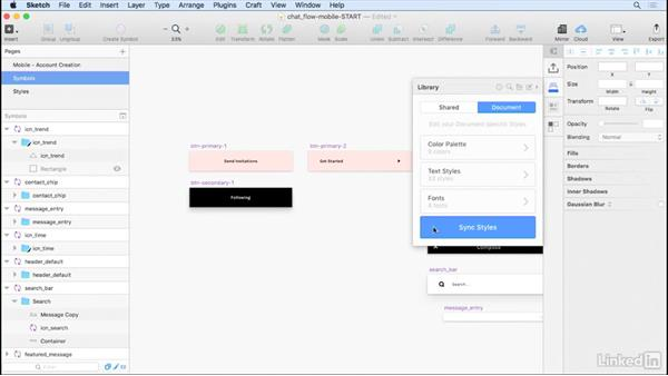 Setting up styles: Learn Sketch: Working With Developers