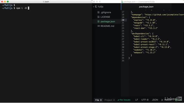 Setup and configurations: Learning Full-Stack JavaScript Development: MongoDB, Node and React