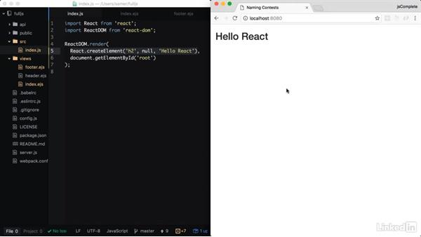React elements and JSX: Learning Full-Stack JavaScript Development: MongoDB, Node and React