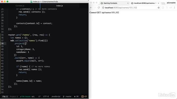 API to fetch a list of names