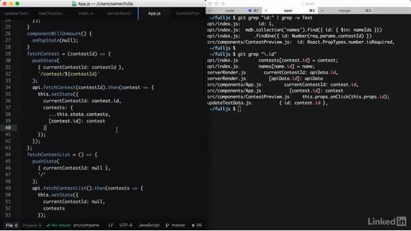 Converting the application to use _id: Learning Full-Stack JavaScript Development: MongoDB, Node and React