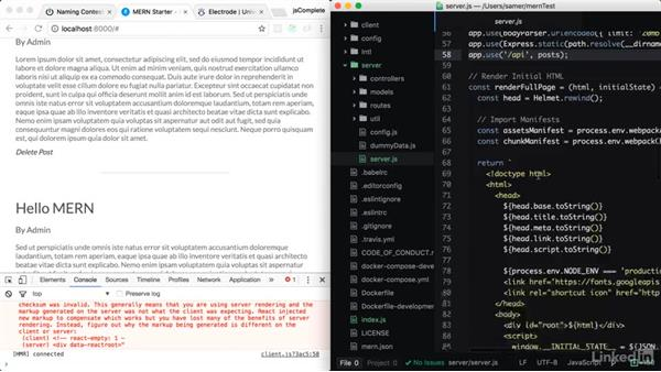 Alternatives: MERN and Electrode: Learning Full-Stack JavaScript Development: MongoDB, Node and React