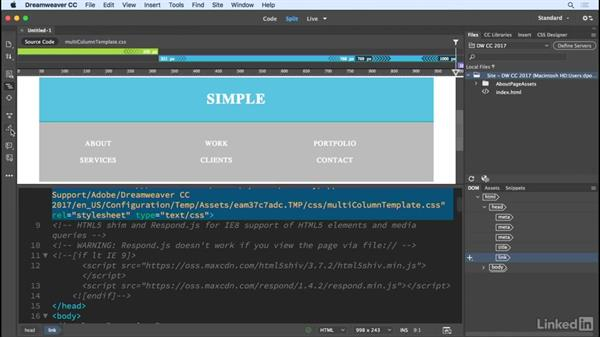 Revised toolbars: Dreamweaver CC 2017: New Features