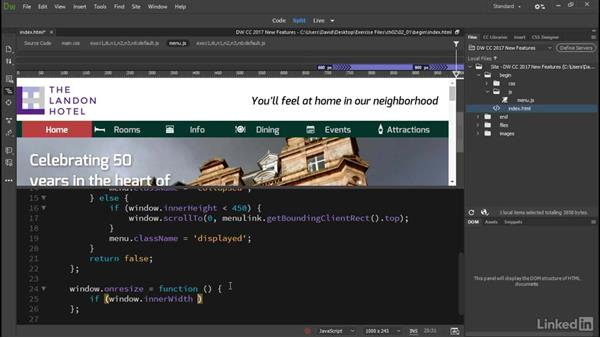 Autocompletion and code hints: Dreamweaver CC 2017: New Features