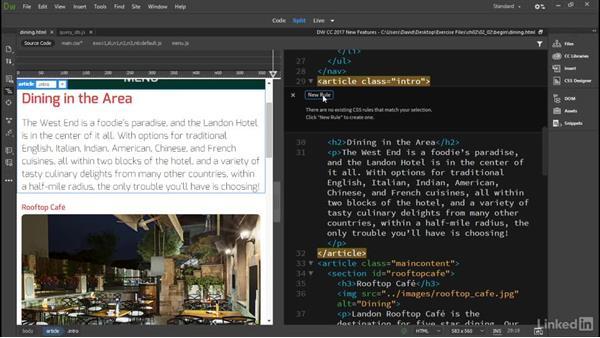 Quick Edit: Dreamweaver CC 2017: New Features