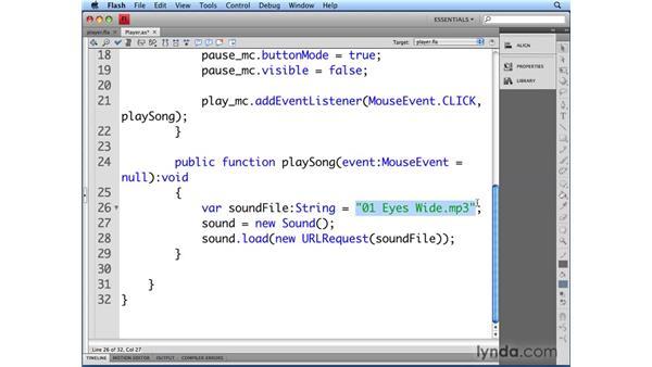 Playing audio: Flash CS4 Professional Audio Techniques