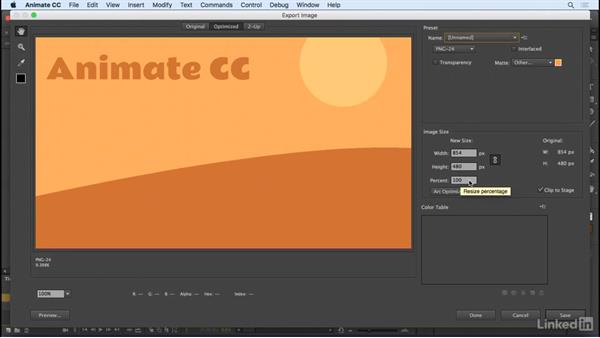 Export Image: Animate CC 2017: New Features
