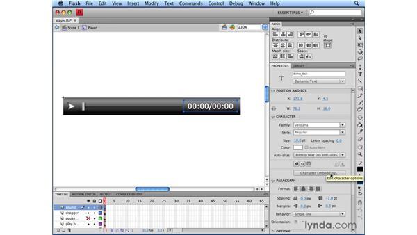 Viewing the FLA file: Flash CS4 Professional Audio Techniques