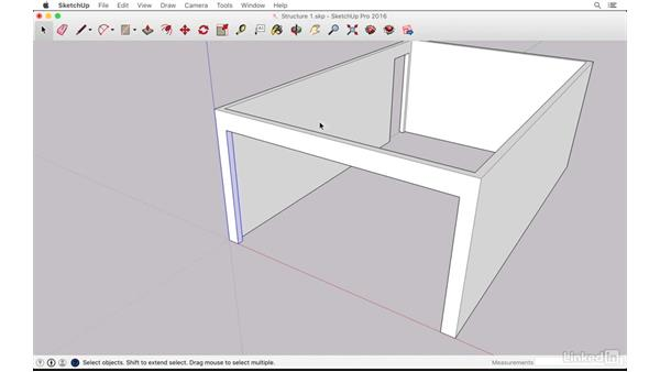 Modeling walls and selecting and using groups: SketchUp: The Ultimate Man-Cave or She-Shed Design