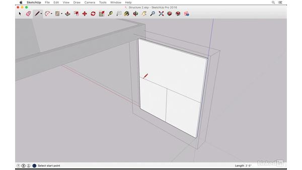 Creating the garage doors: SketchUp: The Ultimate Man-Cave or She-Shed Design