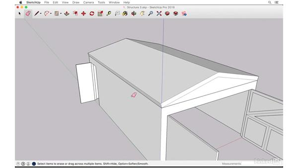 Modeling the roof: SketchUp: The Ultimate Man-Cave or She-Shed Design