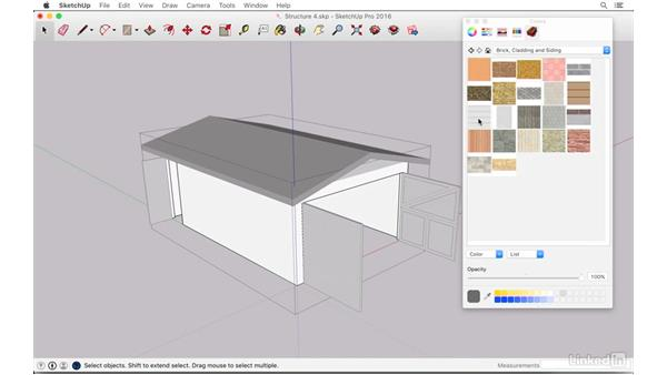 Adding materials and a car in the garage: SketchUp: The Ultimate Man-Cave or She-Shed Design