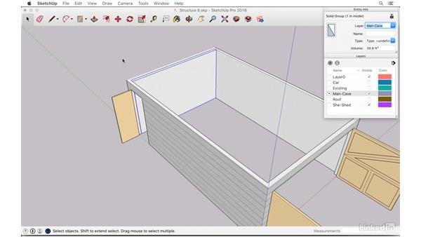 Building a wall with an interior door: SketchUp: The Ultimate Man-Cave or She-Shed Design