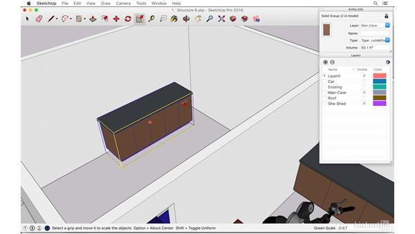 """Designing a """"man cave"""" entertainment room: SketchUp: The Ultimate Man-Cave or She-Shed Design"""