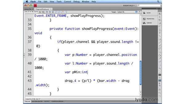 Showing progress in a text field: Flash CS4 Professional Audio Techniques