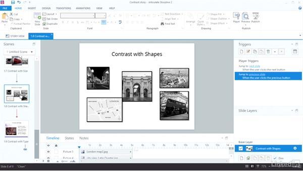 Use contrast: Visual Design Basics in Articulate