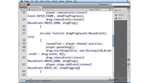 Controlling progress: Flash CS4 Professional Audio Techniques