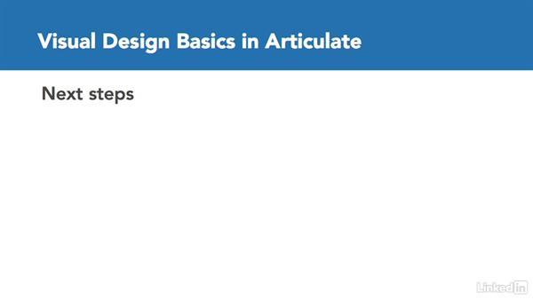 Next steps: Visual Design Basics in Articulate