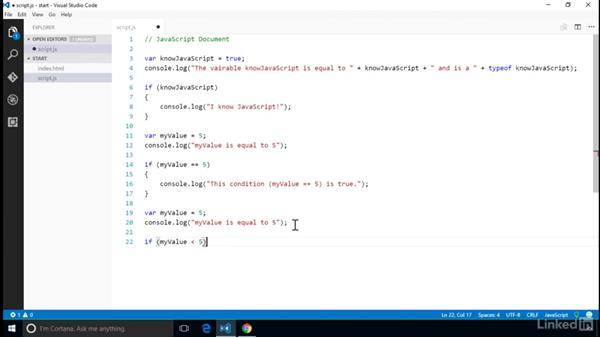 Create conditional tests: Computer Science Principles Lab: JavaScript