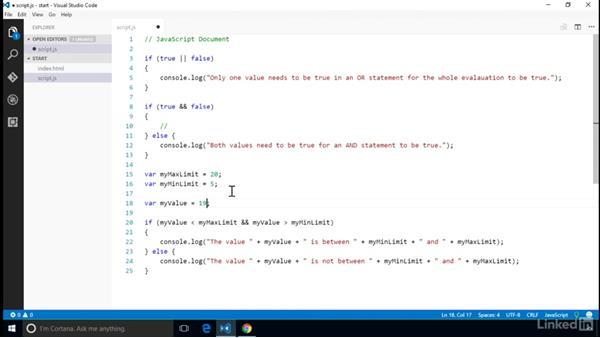 Build compound conditional tests: Computer Science Principles Lab: JavaScript