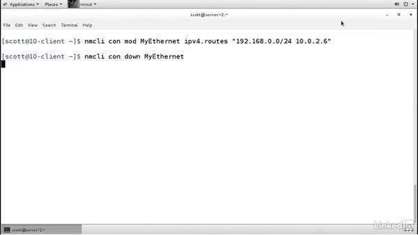 Configure a static route: Linux: Network Configuration
