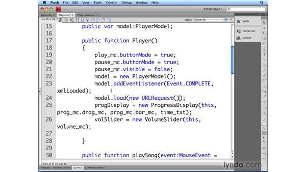 Loading XML data into the player: Flash CS4 Professional Audio Techniques