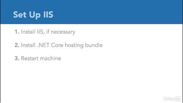 Set up IIS: Deploying ASP.NET Core Applications