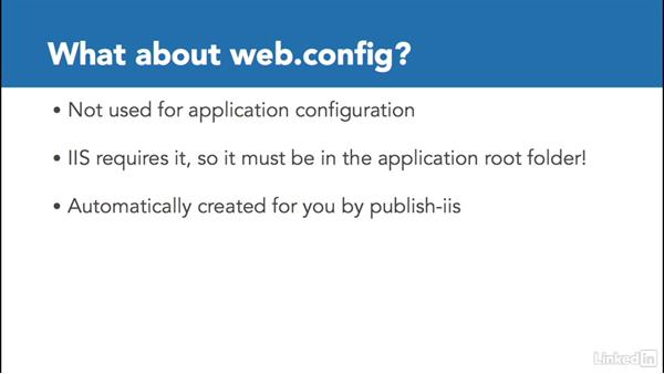 Understand web.config: Deploying ASP.NET Core Applications