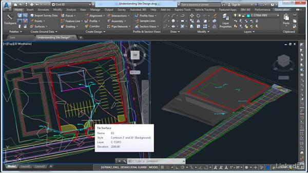 Understanding layout and grading: AutoCAD Civil 3D: Site Design