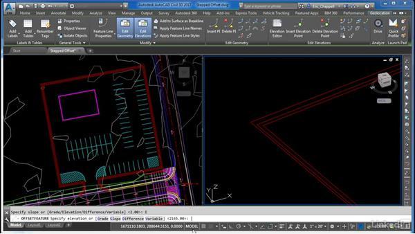 Using stepped offset: AutoCAD Civil 3D: Site Design