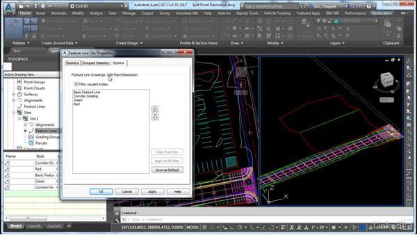 Working with Split Point Resolution: AutoCAD Civil 3D: Site Design