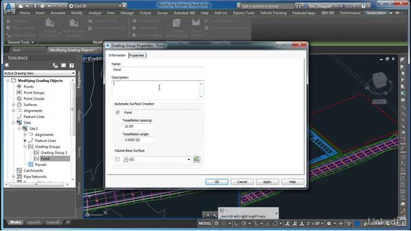 Working with grading groups: AutoCAD Civil 3D: Site Design