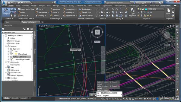 Creating a parking lot surface: AutoCAD Civil 3D: Site Design