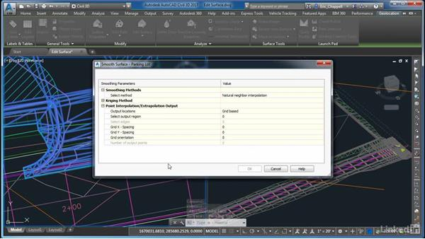 Editing the surface: AutoCAD Civil 3D: Site Design