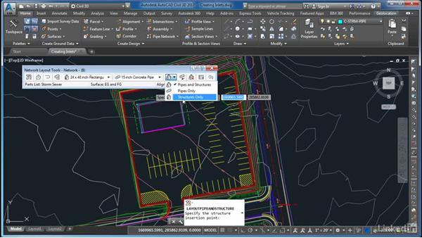 Creating inlets: AutoCAD Civil 3D: Site Design