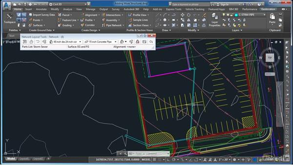 Adding more structures: AutoCAD Civil 3D: Site Design