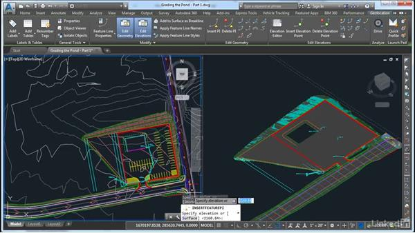 Grading the pond part 1 for Pond design in civil 3d