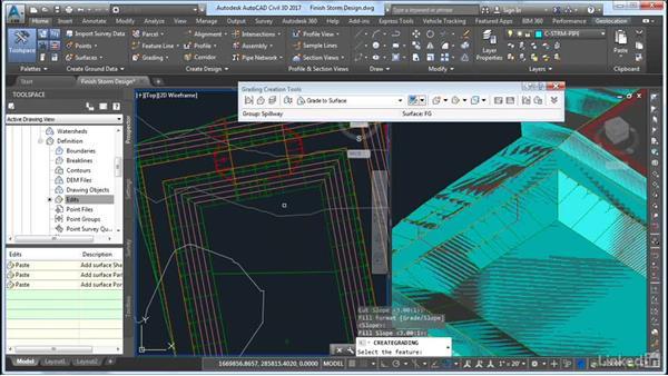 Finalizing the storm design: AutoCAD Civil 3D: Site Design