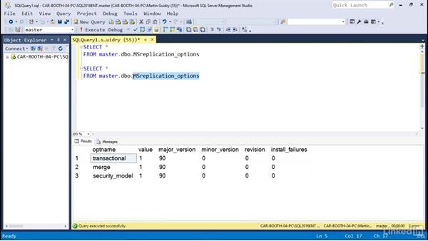 More about SQL Server Management Studio: Microsoft SQL Server 2016 Essential Training