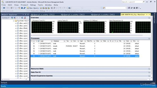 Activity Monitor: Microsoft SQL Server 2016 Essential Training