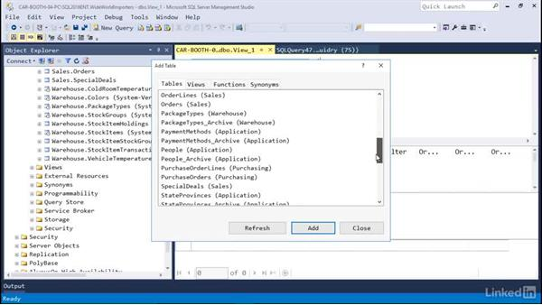 Create a view: Microsoft SQL Server 2016 Essential Training