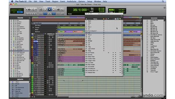 Staying organized: Effectively prepping the mix: Mixing and Mastering with Pro Tools