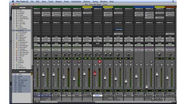 Managing system resources during mixdown: Mixing and Mastering with Pro Tools